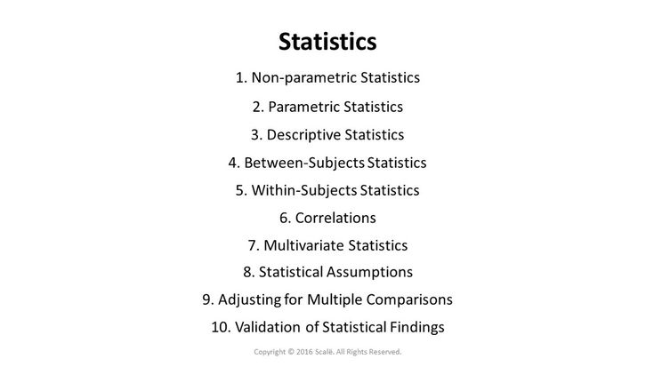 There are several different types of statistics available in Research Engineer: Non-parametric statistics, parametric statistics, descriptive statistics, between-subjects statistics, within-subjects statistics, correlations, multivariate statistics, statistical assumptions, adjusting for multiple comparisons, and validation of statistical findings.