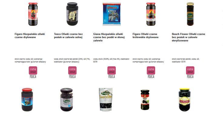 Czytamy skład i porównujemy etykiety produktów Czarne oliwki. Zobacz skład i polecane produkty przez Czytaj Skład