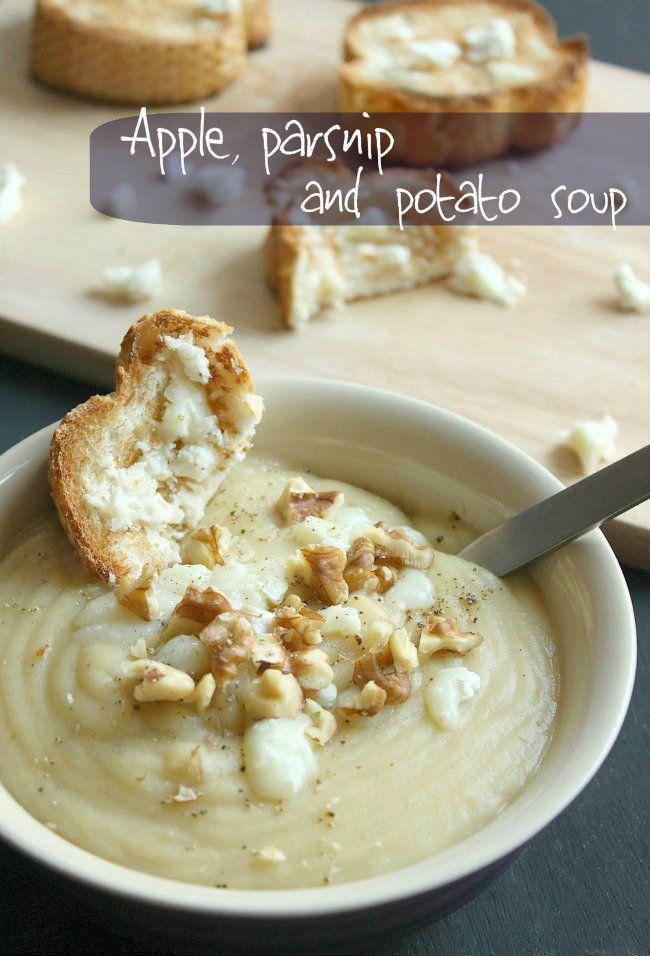 Apple, parsnip and potato soup