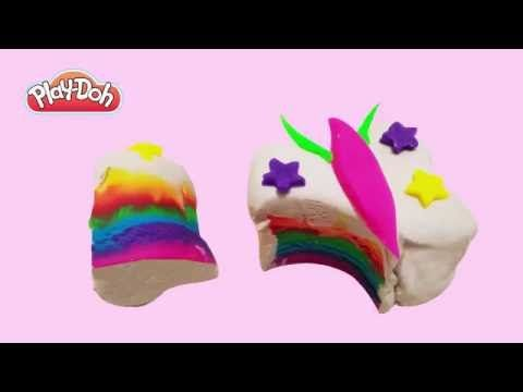 Play Doh How to Make Rainbow Butterfly Cake DIY