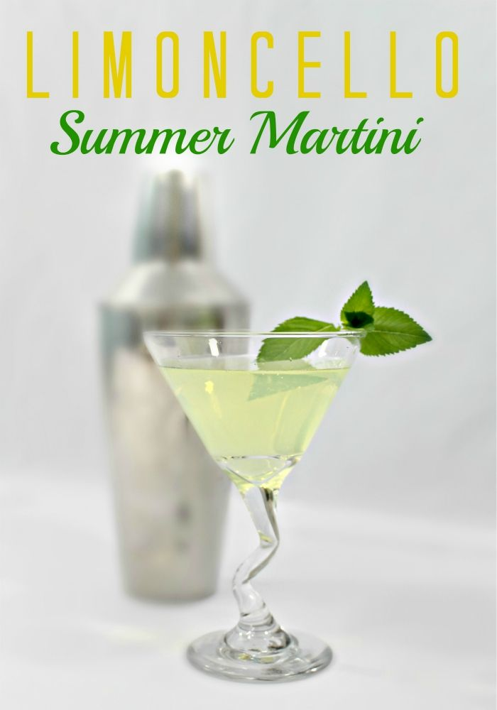 Limoncello Summer Martini - a delicious summer cocktail to help you unwind. Click now!