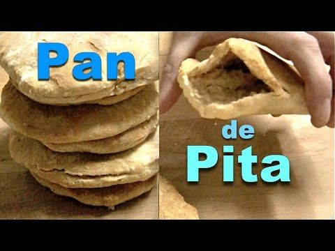 como hacer pan pita en casa - YouTube