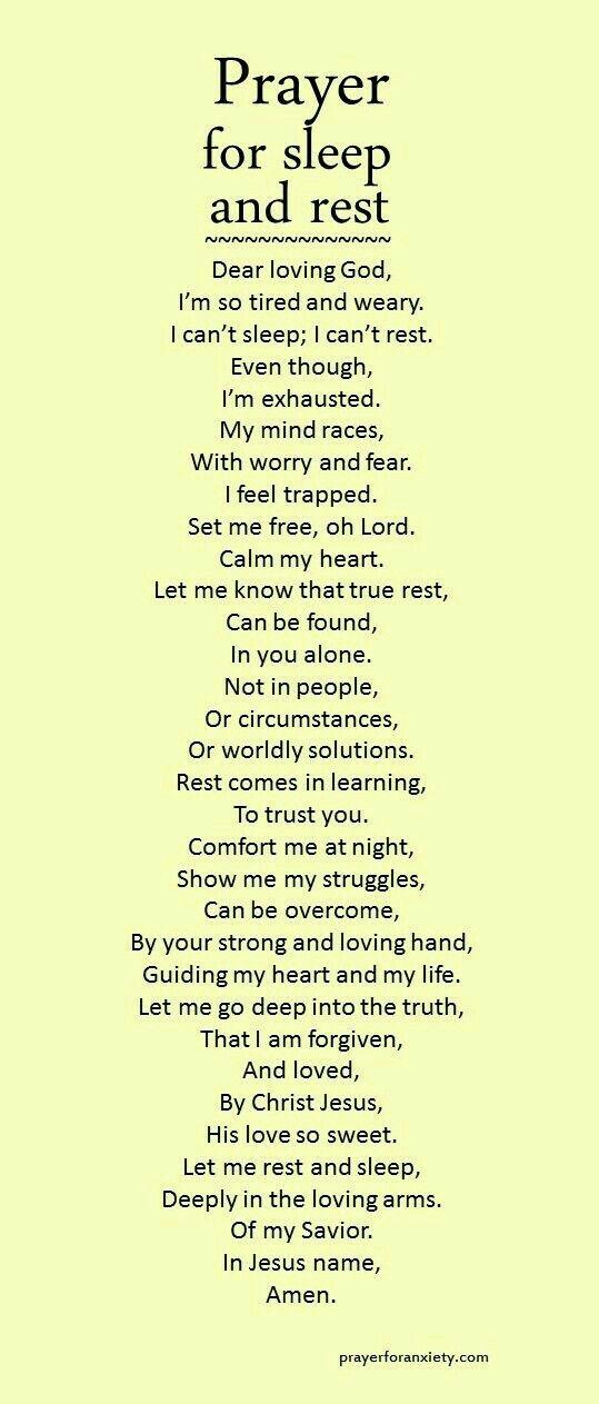 Prayer for sleep & rest