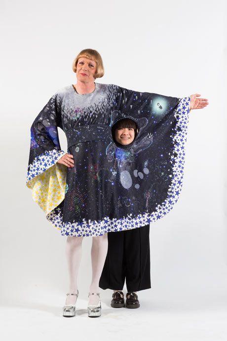 Grayson Perry wears Ayaka Sakurai's winning Claire design