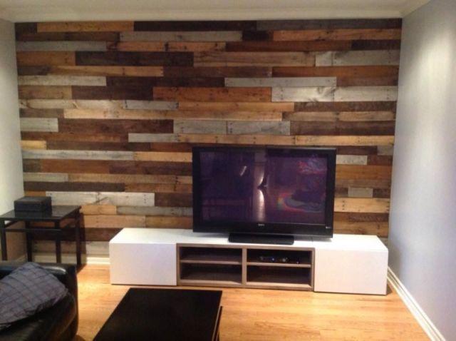 Co mur d coration mural en bois de palette autre for Decoration maison kijiji