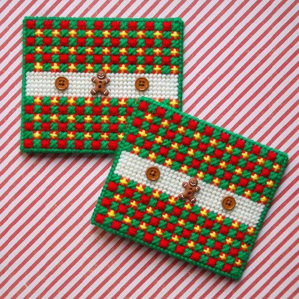Plastic Canvas Quot Gingerbread Quot Napkin Holder Covers