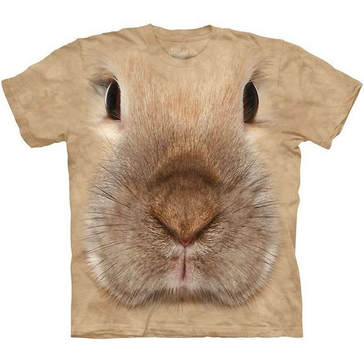 Bunny Face Rabbit Big Face Pet T Shirt by the Mountain from yourgifthouse