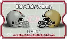 SATSEP 16Ohio State Buckeyes Football vs. Army Black Knights Football4:30 PM - Ohio Stadium - Columbus, OH Section 17C Row 11 Seats 3-4 You are purcha... #football #section #army #state #ohio #tickets