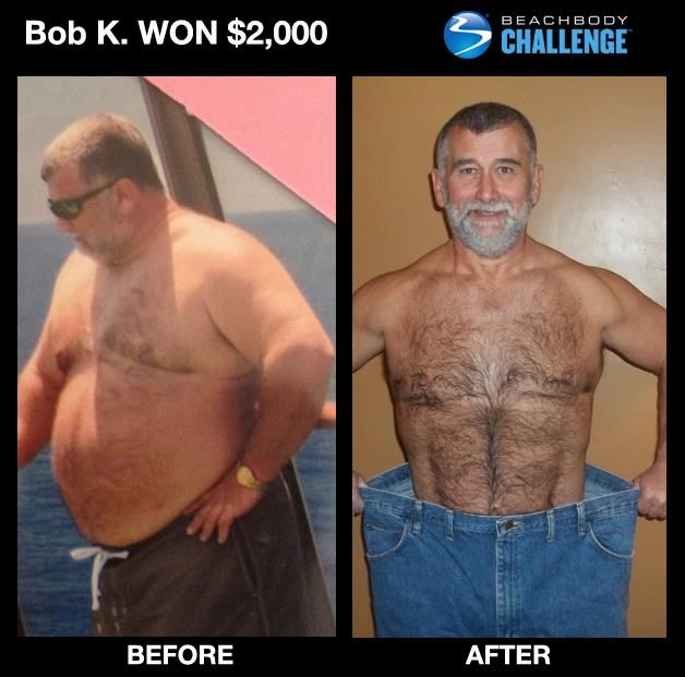 """::Jan. 2013 Men's 50+ AND Ultimate Health Transformation Winner::  --> This is a Beachbody Challenge first! Bob won $2,000 for his age group and in the men's Ultimate Health prizes losing 93 pounds and 10"""" off his waist thanks to #Shakeology, #P90X, and #Power90! --> """"My whole outlook on life has changed for the better and I know that I am in the best shape of your life."""" SEE HIS FULL STORY!"""
