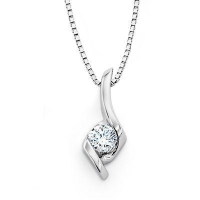 12158 best diamond pendant images on pinterest diamond pendant sirena solitaire pendant in 14k white gold zales diamond necklace simplediamond aloadofball Images