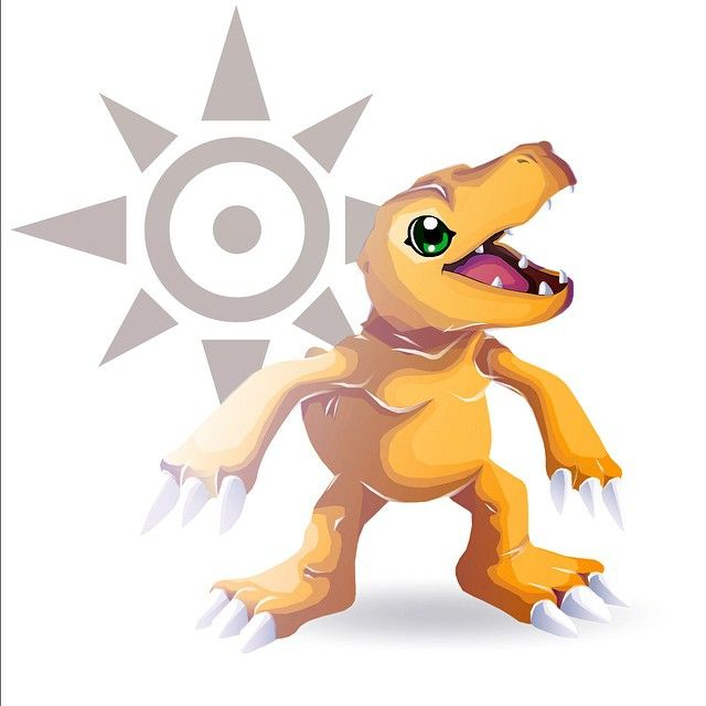 Agumon and the Crest of Courage
