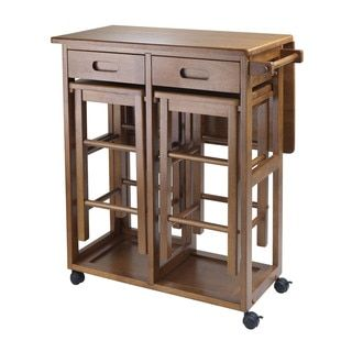 Shop for Winsome Space Saver Kitchen Cart With 2 Stools. Get free shipping at Overstock.com - Your Online Kitchen