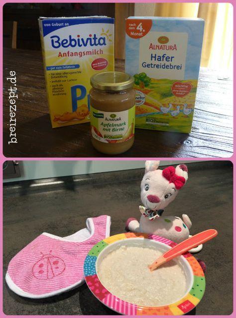 Pre-Milch-Brei mit Getreide und Obst nach diesem Rezept für das Baby selber anrühren ist die gesündeste Alternative für einen Milch-Getreide-Brei
