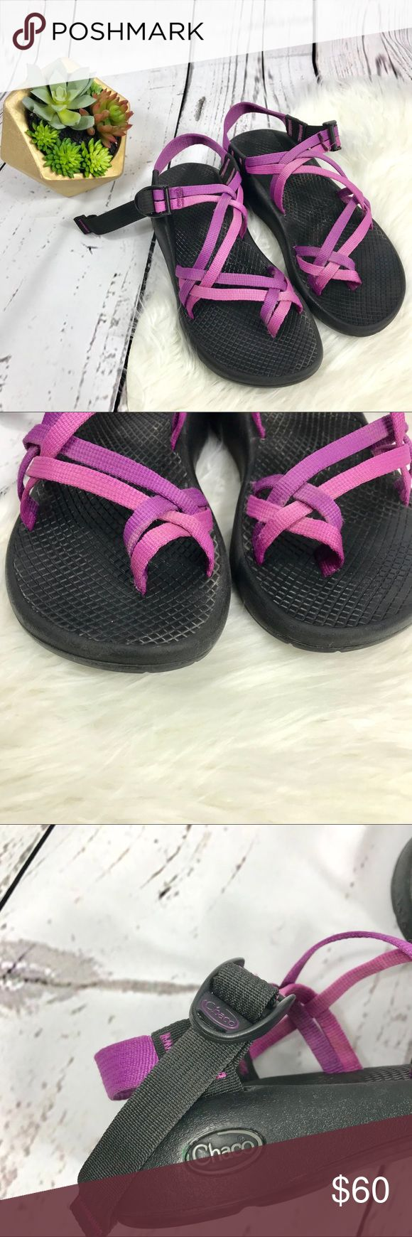 Chaco Shoes size 6. Purple pink Purple/pink Chaco Sandals.   They are in good under condition!   Size 6. Chaco Shoes Sandals