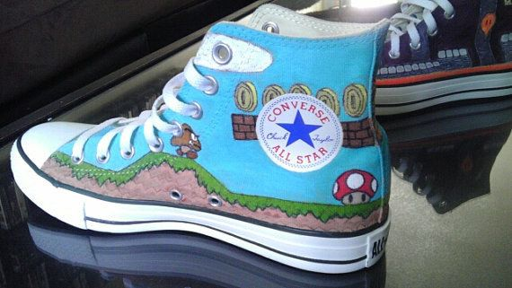 Super Mario Bros. | 15 Unique Customized Converse Sneaker Designs