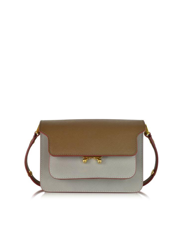 Marni Colorblock Saffiano Leather Mini Trunk Bag at FORZIERI
