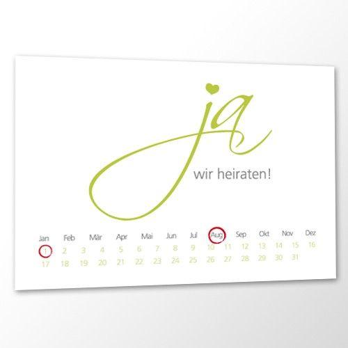 Save the Date Karte Hochzeit - Nur ein Wort