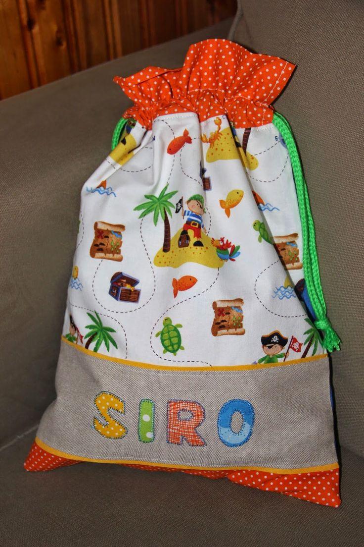 Bolsita de merienda infantil personalizada con nombre