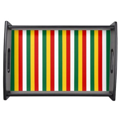 Suriname flag stripes lines pattern serving tray - pattern sample design template diy cyo customize
