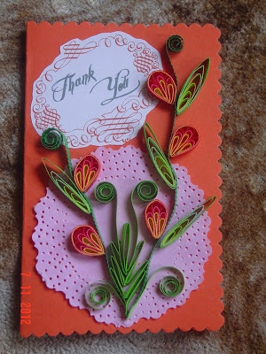 Faith's Quilling - Quills, Quillings, Quilled flowers, Paper rolling, Thank you cards