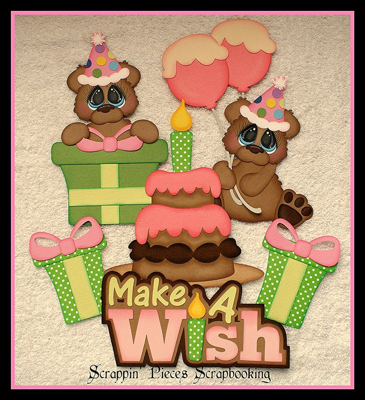 """Make a Wish""~ DT Debbie Scrappin' Pieces Scrapbooking"
