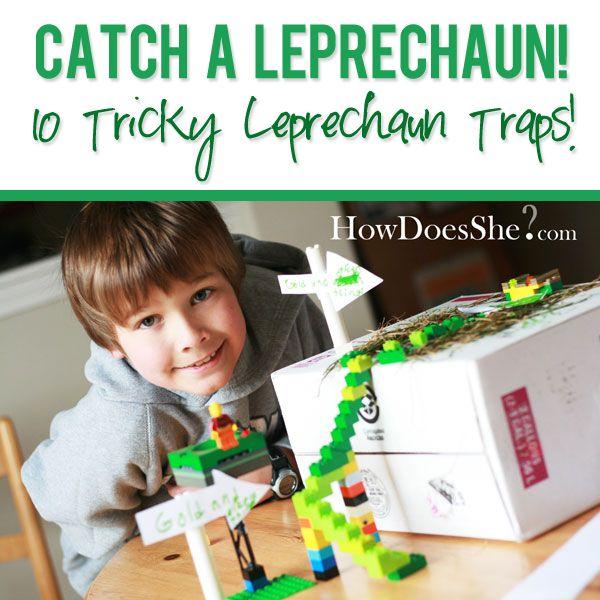 Catch a Leprechaun! 10 Tricky Leprechaun Traps! howdoesshe.com  #leprechauntraps #stpatricksday