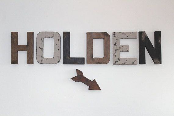 Rustic Wall Letters, Woodland Nursery Letters, Rustic Wood Letters, Nursery Boy Decor, Baby Boy Nursery, Distressed Letters, Farmhouse Decor