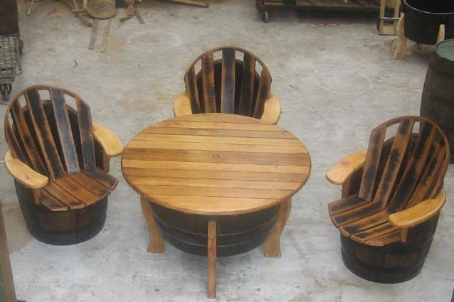112 Best Images About Whiskey Barrel Projects On Pinterest Whiskey Barrels Barrel Table And