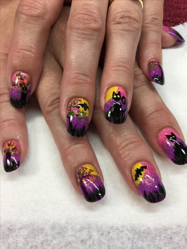 115 best Exquisite Nails By Lori images on Pinterest | Black cats ...
