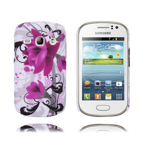 Valentine (Lila Blommor) Samsung Galaxy Fame-Skal