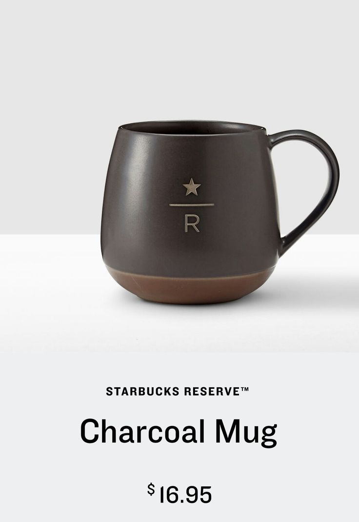 starbucks charcoal mug (16 fl oz) from the starbucks reserve™ series
