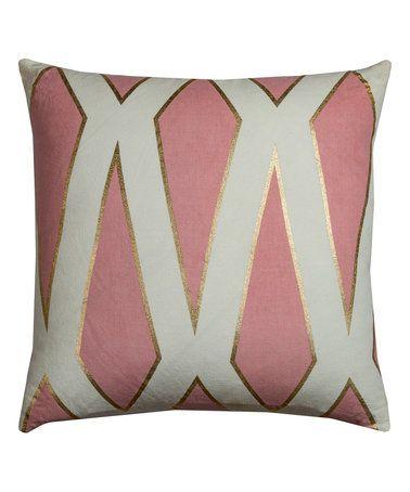 Look at this #zulilyfind! Pink Stripe Geometric Throw Pillow #zulilyfinds