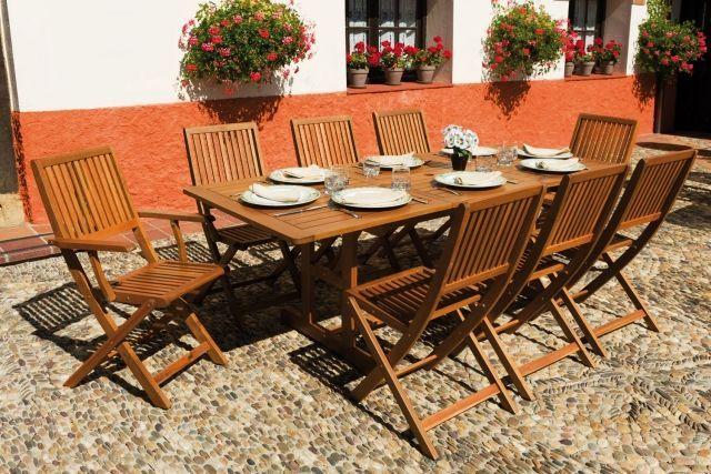 Table de jardin en bois – quel salon de jardin choisir   Jardins et ...