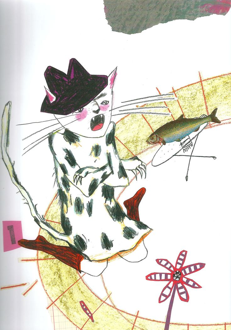 illustration by Stefanie Harjes, from A Monster Sat on the Roof