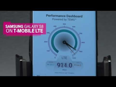 Awesome Samsung's Galaxy 2017: Samsung Galaxy S8 Speed Test on T-Mobile's LTE Network - YouTube... Smartphones, Wearable, Rideable Tech & Connected