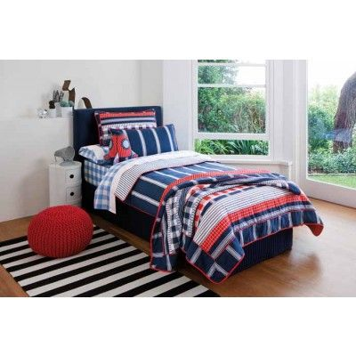 Kingsley Navy Quilt Cover Set by Sheridan Junior