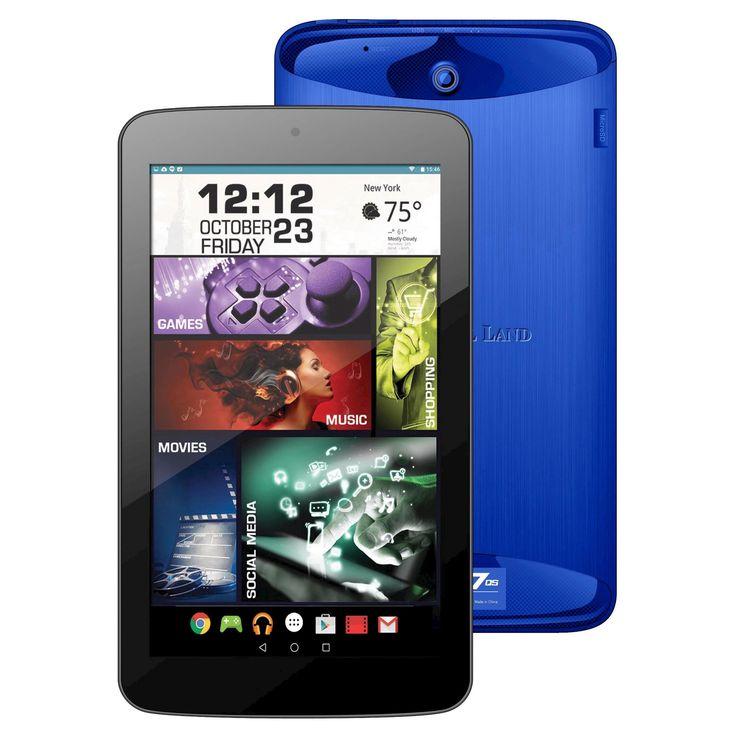Prestige Elite 7QS 7 QuadCore 16GB Lollipop Android Tablet, Wifi, 2MP Camera, 1024x600 Touchscreen, Blue