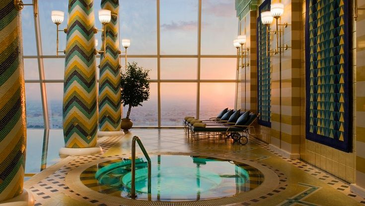 Take a deep breath and immerse yourself in the soothing powers of Assawan Spa & Health Club at the hotel Burj Al Arab in Dubai