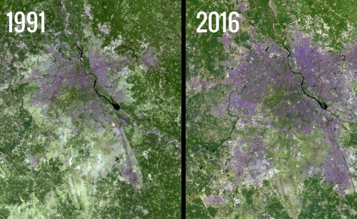 Il sito Images of Change raccoglie foto di luoghi del mondo e mette a confronto immagini scattate in passato con foto recentissime per mostrare le differenze
