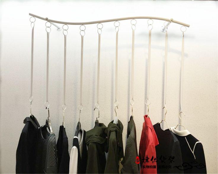Garment racks-store displays wrought iron rings, women's wedding shop special clothing racks wall mounted shelf suspension