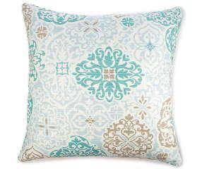 Aqua Chennai Medallion Outdoor Throw Pillows