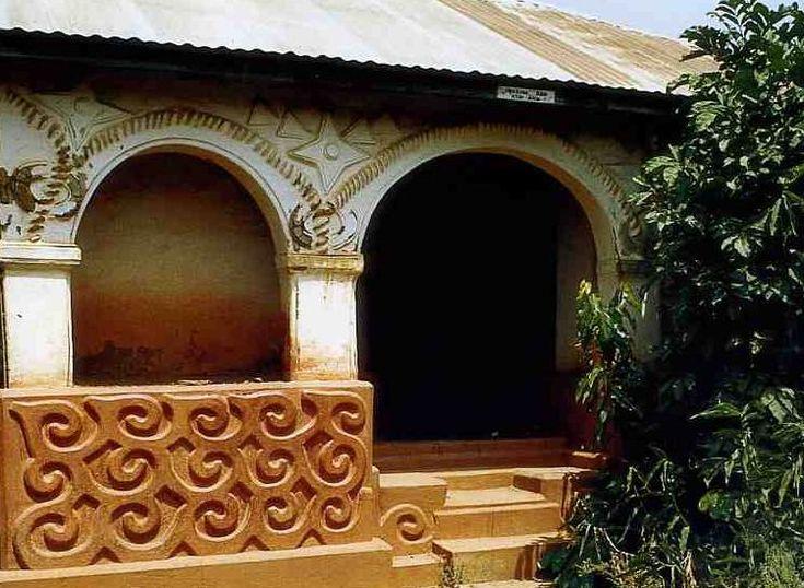 Traditional Ashanti house - Kumasi, Ghana | Afrique maison ...