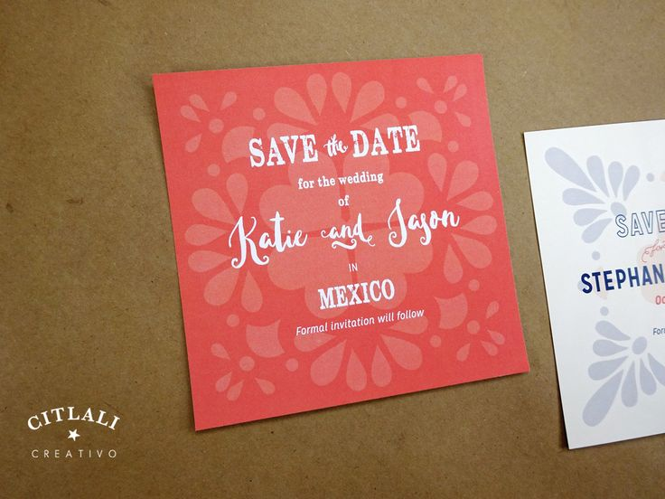 82 best save the dates citlali creativo images on pinterest talavera spanish tile wedding save the dates coral blue or your colors citlalicreativo stopboris Images