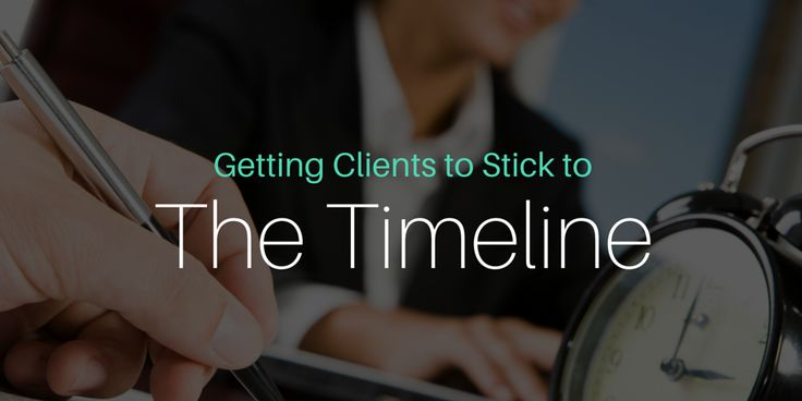 How to Get Clients to Stick to a Timeline - Nusii: Proposal software for creative professionals.