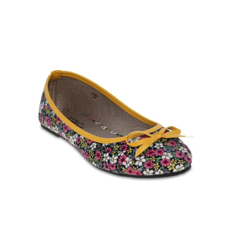 FFC New York Juny Ballerina Pumps Yellow/Floral Print
