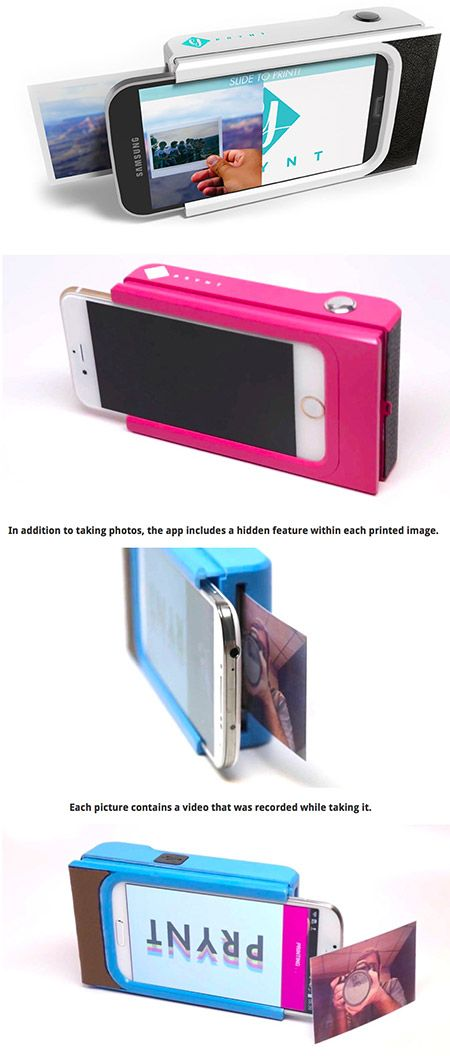 Prynt, a French tech startup, has embarked on a genius idea to bring printed photographs back into the mainstream with a simple device that can easily be attached to a smart phone to turn it into an instant camera. Like the big, clunky Polaroid cams from yesteryear, Prynts cases will allow users to instantly print any photo they snap with their phone.
