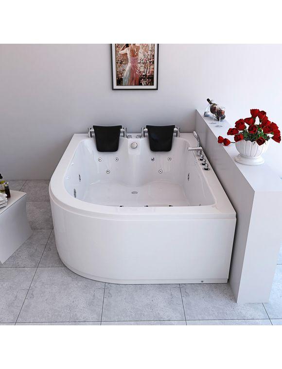 Komplett Set Whirlpool Ancona Xl Rechts B T H In Cm 180 120 65 Whirlpool Wannentrager Farblichttherapie