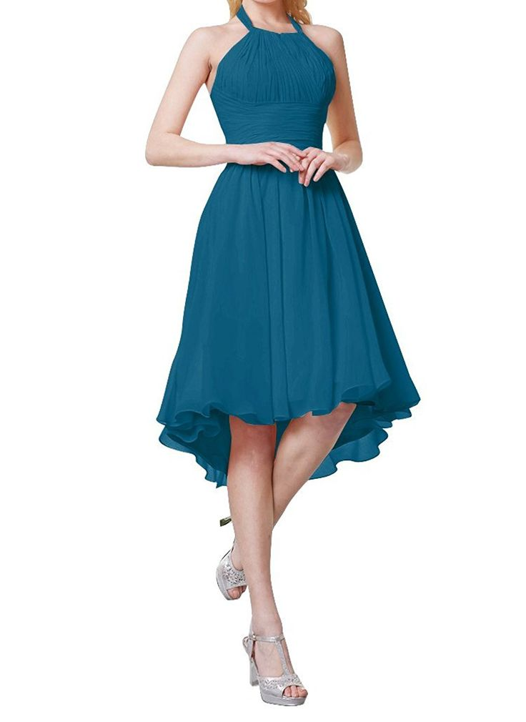 Always Pretty Women's Hi-Lo Chiffon Party Cocktail Bridesmaid Dresses at Amazon Women's Clothing store: