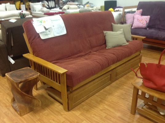 San Mateo Oak Futon Frame The Los Angeles 10865 W Pico