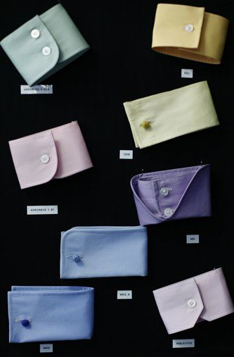 Wall of Cuffs at Charvet, Paris - from the Sartorialist
